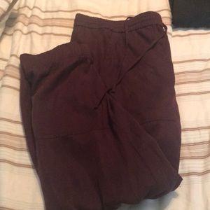 Gap Burgundy Jogger Pants